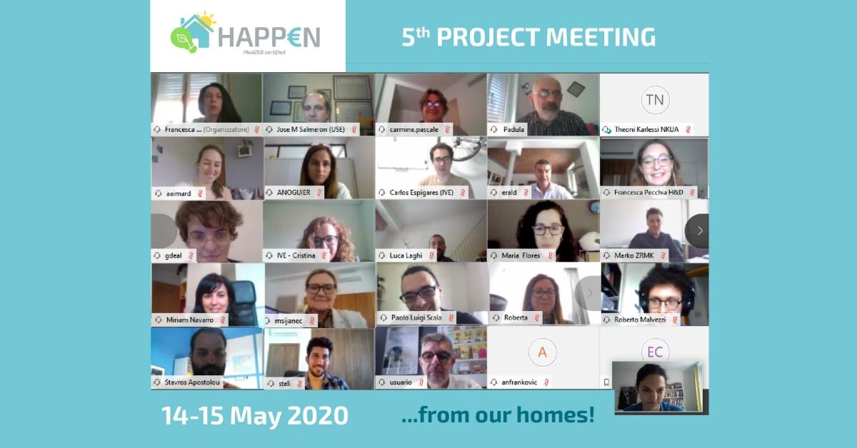 HAPPEN Project partners virtual group picture
